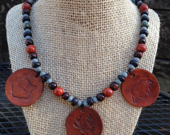 Forest Dwellers Necklace (Nature Animals Shamanic)