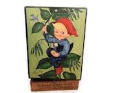 Vintage Jigsaw Puzzle Jack and the Beanstalk Children's Puzzle 1960's Vintage Fairy Tale Illustration Picture Puzzle Nursery Wall Art Decor