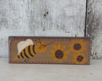 Primitive Country Bee Summer Decor Rustic