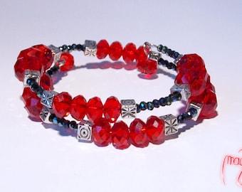 Bracelet (Memory Wire) - Lava