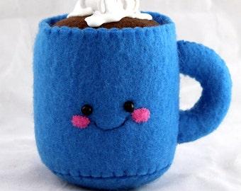 Hot Cocoa Plushies - Handmade Felt