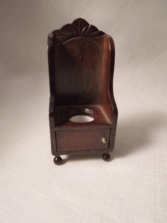 Dollhouse Chamber Pot Toilet Commode Bathroom Throne