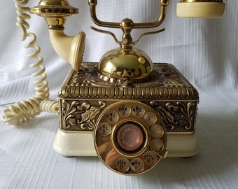 1970s Versailles Rococo Rotary Dial Phone by Onyx