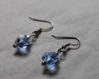 Baby Blue Crystal earrings