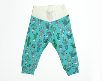 LIMITED EDITION// Modern baby leggings, cactus print, green, gender neutral baby gifts, baby boy clothes
