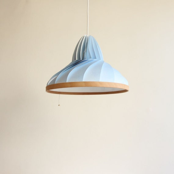 NEW: paper lamp Forest blue