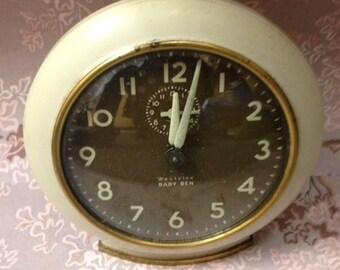 Vintage Baby Ben Clock - Westclox Wind Up Clock - 1950s