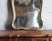 G O L D Old Hollywood Mirror Beach Cottage Romantic Home Decor