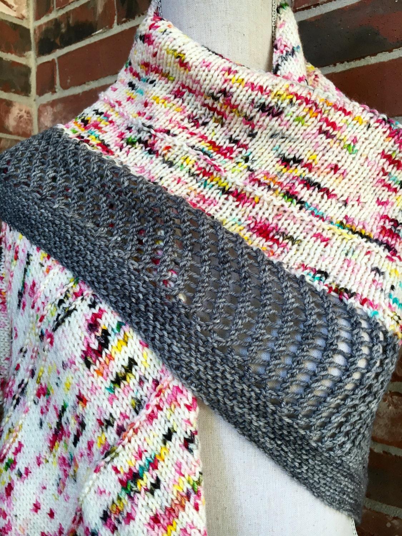 Graffiti Shawl Knitting Pattern Knit Triangle Scarf Shawl