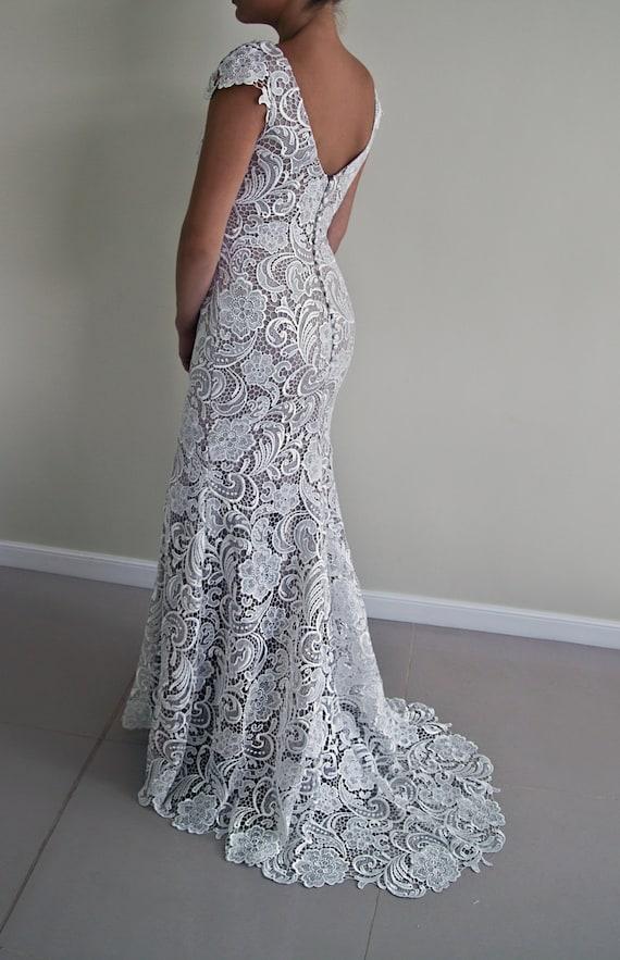 Belgian lace wedding dress