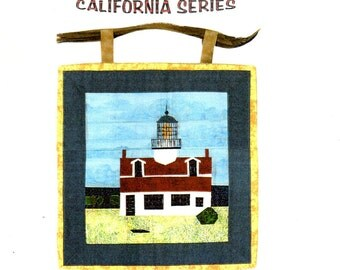 POINT PINOS LIGHTHOUSE Pacific Grove, California by Sandra Kintz Foundation Paper Piecing Quilt Pattern