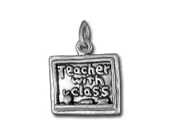 Teacher with Class Charm - Sterling Silver