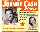 "Johnny Cash Show Poster Print - 13""x19"" - Country Music Stars - Nashville music scene - June Carter - The Carter Family - Carl Perkins"