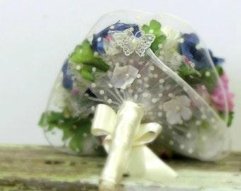 Silk bouquet pink and purple bridal bouquet wedding bouquet alternative, boho bouquet, silk wedding bouquet ,anemone bouquet, purple bouquet