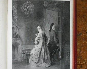 Lovers Tiff Engraving 1879 The Tiff by P Korle Antique