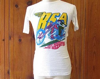 TAKE A TRIP Vintage 60's BSA Shirt | 1960's Deadstock T-Shirt by Novita | Custom Culture Ratt Fink Biker Moto Motorcycle | Small