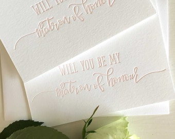 Matron of Honor Card - Will You Be My Matron of Honour Matron of Honour Proposal - Asking Matron of Honor - Matron of Honour - Bridesmaids