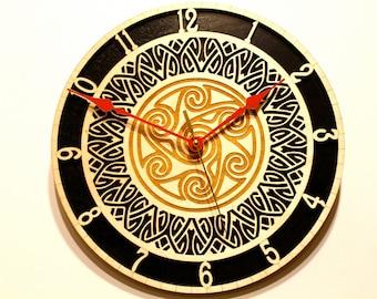 Wooden Clock, Laser Cut, Paul Szewc
