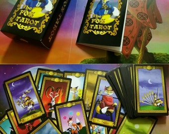 The Fox Tarot Card Deck 78 Card Deck with Box and Booklet 2.75 x 4.75 Standard Sized Tarot Cards