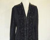 Niteline Beaded Floral Cardigan Jacket Top