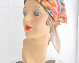 1960s Lilly Dache Chiffon Head Scarf Hat