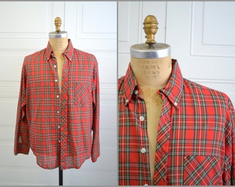 1970s Cove Creek Red Plaid Shirt