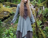 Stacia Top ~ Faerie Top ~ Brown Cotton Jersey ~ Renfest ~ Made to Measure ~ Petite to Plus Size ~ technodolly ~