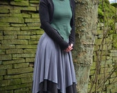 Aglæcwif Skirt ~ Long Double Layer Skirt ~ Made to Measure ~ Cotton Jersey ~ Faerie Waer ~ Goddess ~ Quintessential Forest Camouflage