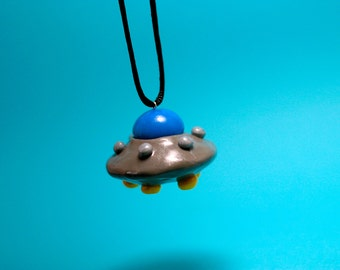 UFO Ornament - Space Ornament - Holiday Decoration - Christmas Ornament - Keepsake Ornament