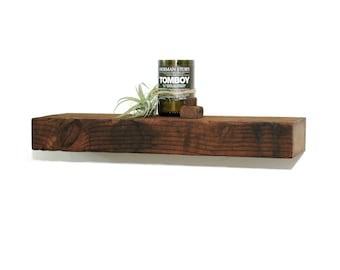 "Reclaimed wood floating shelf - 23"""