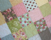 Shabby Chic Baby Quilt Vintage Inspired Scrappy Patchwork Table Topper Ready to Ship 30X30