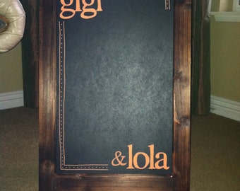 Personalized Double-Sided A-Board, Chalkboard Easel Sidewalk Sign, Sandwich Board - Business Name
