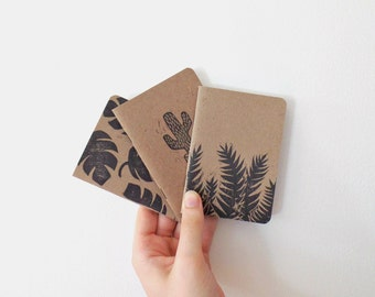 Gifts for gardeners, notebook set of 3, cute notebooks, writing journal, pocket journal, pocket notebook, small notebook, green thumb, gift