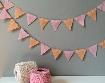 U_PICK Two Color Mini Triangle Bunting/Garland Fabric Decoration