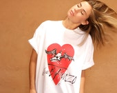 vintage HUNTER S. THOMPSON Heart of Gonzo oversize deadstock Fear and Loathing Ralph Steadman t-shirt top white vintage shirt