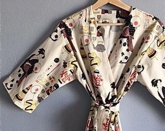 Japanese Kimono Robe. Geisha Girl Kimono Robe. Kimono. Asian Inspired Kimono. Kimono Robe. Small thur Plus Size Kimono 2XL.