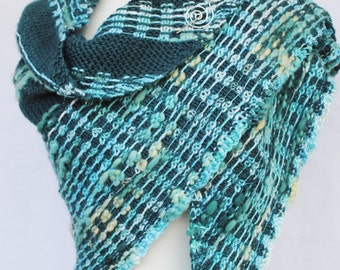 Shawl Knitting Pattern Wavered Instant download pdf