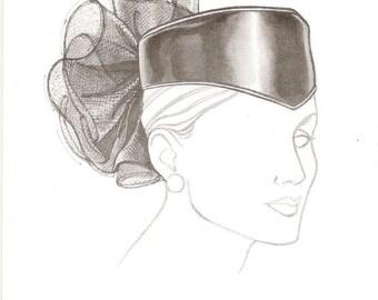 Vintage Hat Pattern with Sew in Label Pillbox Hat Pattern Studio HP212 Frivolous Fancy Womens Sewing Pattern