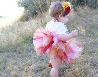 FSU Seminole Baby Tutu set with flower headband - FSU Baby - FSU Tutu - Sports Baby Tutu - Football Baby - Baby Tutu - Toddler Tutu - Tutu