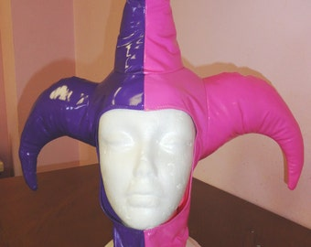 Hollywood Harley Quinn Pink/Purple PVC hood XS/S from Artifice Clothing