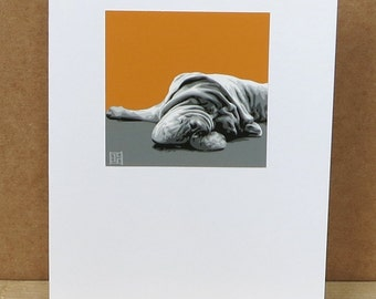 Neapolitan Mastiff Greeting Card Art Print