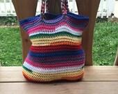 Crochet purse - Crochet bag - Cotton purse - Cotton bag - crochet tote - Cotton tote - Vegan bag - Vegan purse - Rainbow bag - Rainbow purse