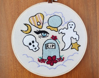 Fortunes and Follies Embroidered Wall Hanging Hoop