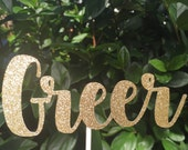 Custom Name // Cursive Name // Birthday // Baby Shower Cake Topper