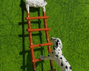 Dog and the Bone Original Paper Sculpture