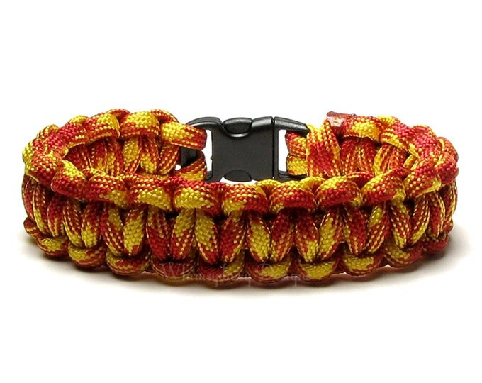 Paracord Bracelet USMC United States Marine Corps Military Hero Survival Gear Veteran Teen Outdoor Hiker Hunter Man Camper Father's Day Gift