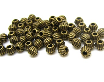 Spacer Beads : 100 pieces Antique Bronze Cone Spacer Beads | Brass Ox Bead Spacers 3.5x4.25mm ... Lead, Nickel & Cadmium Free 300.Q