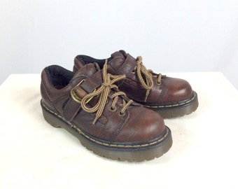 90s Doc Marten Dr. Marten Shoes Brown Leather Mens 5 Womens 7 EUR 39
