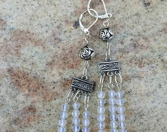 Moonstone Trinity Dangle Earrings by AfterWork