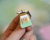 Coffee Carafe Enamel Pin - Vintage Inspired Enamel Pin - Pyrex Inspired - Retro Pin - Lapel Pin - Pin Badge - Cloisonne Pin - Hard Enamel